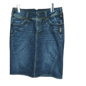 📣2/36$📣 Silver Jeans Roby denim skirt size 28